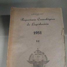 Libros de segunda mano: REPERTORIO CRONOLÓGICO DE LEGISLACIÓN 1951 - ARANZADI. Lote 183876670