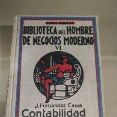 Libros de segunda mano: CONTABILIDAD APLICADA - J. FERNÁNDEZ CASAS. BIBLIOTECA DEL HOMBRE DE NEGOCIOS MODERNO VI. Lote 183877795