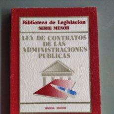 Libros de segunda mano: LIBRO LEY DE CONTRATOS DE LAS ADMINISTRACIONES PÚBLICAS ED CIVITAS BIBLIOTECA DE LA LEGISLACIÓN 1997. Lote 184035025