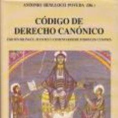 Libros de segunda mano: CÓDIGO DERECHO CANÓNICO : FUENTES Y COMENTARIOS - ANTONIO BENLLOCH POVEDA. Lote 184041616