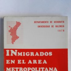 Libros de segunda mano: INMIGRADOS EN EL ÁREA METROPOLITANA DE VALENCIA 1978. Lote 184060220