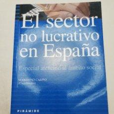 Libros de segunda mano: EL SECTOR NO LUCRATIVO EN ESPAÑA. ESPECIAL ATENCIÓN AL ÁMBITO SOCIAL (MAXIMINO CARPIO) PIRAMIDE. Lote 184585805