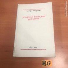 Libros de segunda mano: PRINCIPIOS DE DERECHO PENAL PARTE GENERAL. Lote 184587892