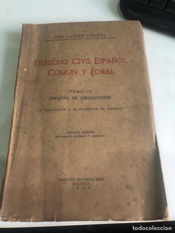 DERECHO CIVIL ESPAÑOL, COMÚN Y FORAL (Libros de Segunda Mano - Ciencias, Manuales y Oficios - Derecho, Economía y Comercio)