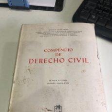 Libros de segunda mano: COMPENDIO DE DERECHO CIVIL. Lote 190240422