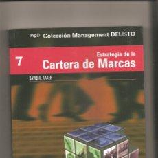 Libros de segunda mano: 843. DAVID A. AAKER. ESTRATEGIA DE LA CARTERA DE MARCAS. Lote 190841980