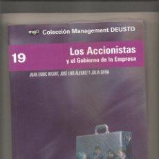 Libros de segunda mano: 856. RICART + ALVAREZ + GIFRA. LOS ACCIONISTAS Y EL GOBIERNO DE LA EMPRESA. Lote 191082933