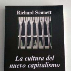 Livres d'occasion: LA CULTURA DEL NUEVO CAPITALISMO. RICHARD SENNET. ANAGRAMA. Lote 191480032