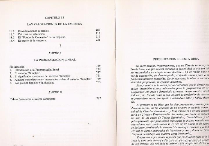 Libros de segunda mano: FUNDAMENTOS DE ECONOMIA DE LA EMPRESA EN BUEN ESTADO VER FOTOS - Foto 5 - 192920437