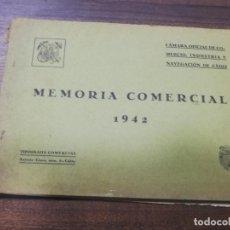 Libros de segunda mano: MEMORIA COMERCIAL. CAMARA OFICIAL DE COMERCIO, INDUSTRIA Y NAVEGACION DE CADIZ. 1942.. Lote 193698365