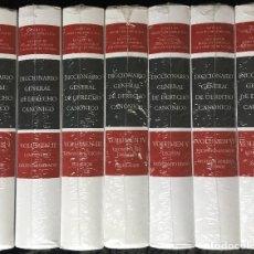 Libros de segunda mano: DICCIONARIO GENERAL DE DERECHO CANÓNICO - 7 VOLÚMENES - PRECINTADO - ARANZADI - ISBN: 9788490141748. Lote 193852248