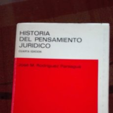 Libri di seconda mano: HISTORIA DEL PENSAMIENTO JURÍDICO. JOSÉ MARÍA RODRÍGUEZ PANIAGUA.FACULTAD DE DERECHO. Lote 193857548
