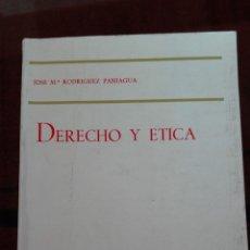 Libros de segunda mano: DERECHO Y ÉTICA. JOSÉ MARÍA RODRÍGUEZ PANIAGUA. ED. TECNOS-AÑO 1977. Lote 193857815