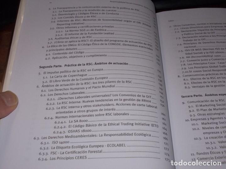 Libros de segunda mano: Responsabilidad Social Corporativa: Teoría y práctica. Fernando Navarro García. 2.008 - Foto 4 - 194220018