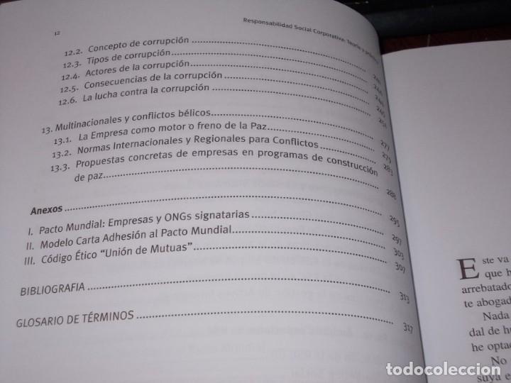Libros de segunda mano: Responsabilidad Social Corporativa: Teoría y práctica. Fernando Navarro García. 2.008 - Foto 6 - 194220018