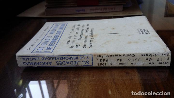 Libros de segunda mano: Sociedades anónimas y de responsabilidad limitada 1961 Ed. Garcia Enciso - Foto 2 - 194226570