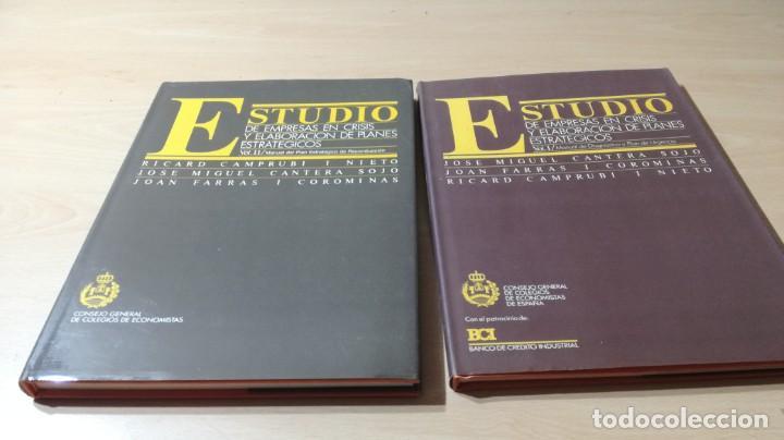 ESTUDIO EMPRESAS CRISIS ELABORACION PLANES ESTRATEGICOS - CAMPRUBI - CANTERA - FARRAS/ G601 (Libros de Segunda Mano - Ciencias, Manuales y Oficios - Derecho, Economía y Comercio)