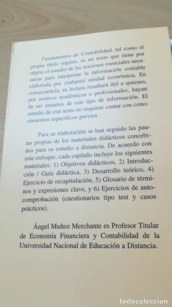 Libros de segunda mano: FUNDAMENTOS DE CONTABILIDAD - ANGEL MUÑOZ MERCHANTE - UNED/ G602 - Foto 4 - 194242443