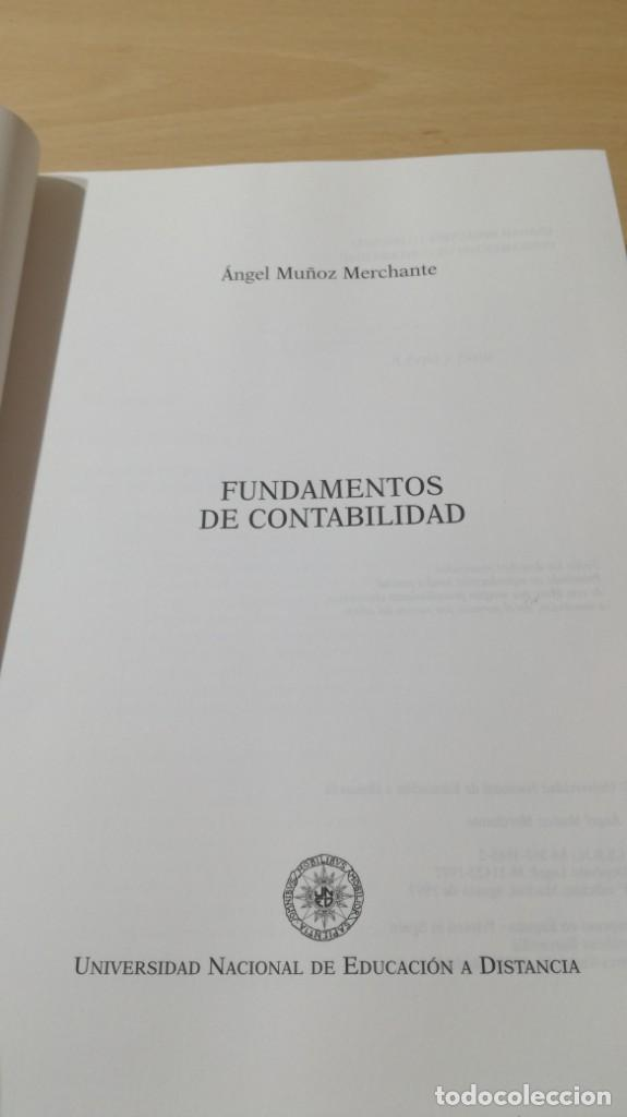 Libros de segunda mano: FUNDAMENTOS DE CONTABILIDAD - ANGEL MUÑOZ MERCHANTE - UNED/ G602 - Foto 5 - 194242443
