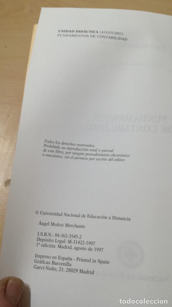 Libros de segunda mano: FUNDAMENTOS DE CONTABILIDAD - ANGEL MUÑOZ MERCHANTE - UNED/ G602 - Foto 6 - 194242443