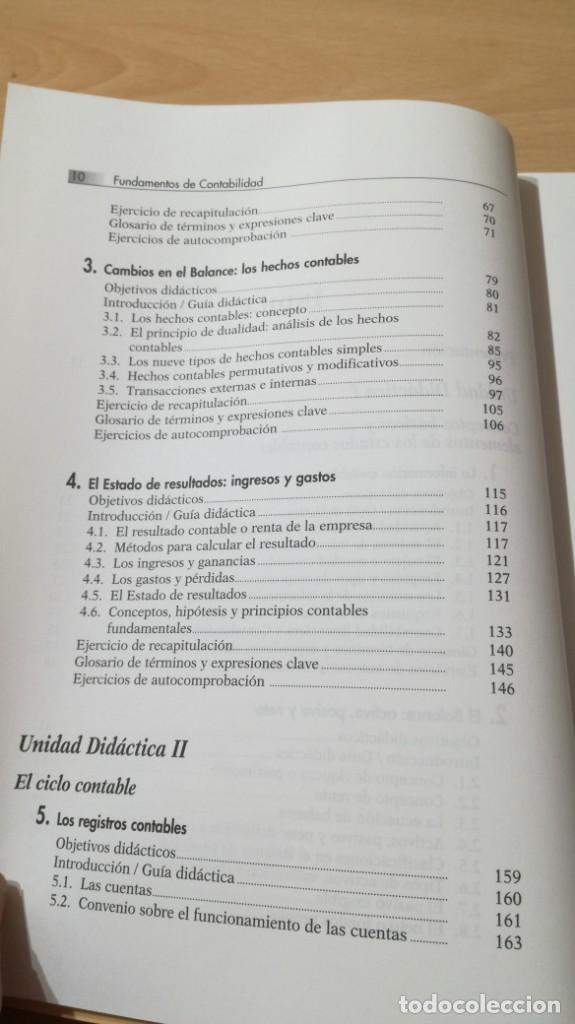 Libros de segunda mano: FUNDAMENTOS DE CONTABILIDAD - ANGEL MUÑOZ MERCHANTE - UNED/ G602 - Foto 8 - 194242443