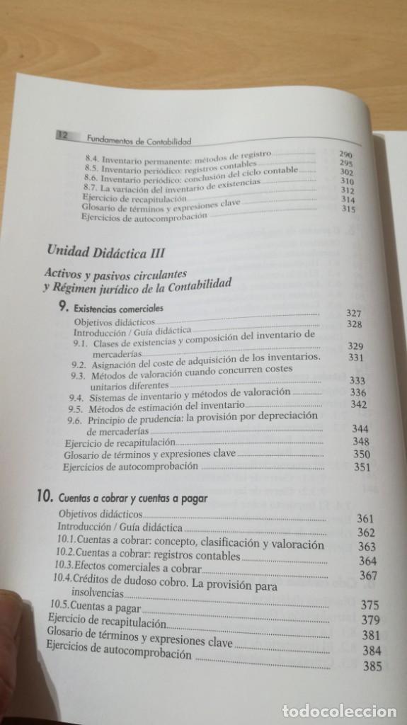 Libros de segunda mano: FUNDAMENTOS DE CONTABILIDAD - ANGEL MUÑOZ MERCHANTE - UNED/ G602 - Foto 10 - 194242443