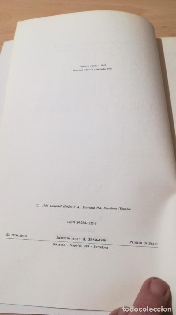 Libros de segunda mano: TABLAS DE ESTADISTICA - J M DOMENECH - HERDER/ G602 - Foto 5 - 194242645