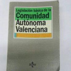 Libros de segunda mano: LEGISLACIÓN BÁSICA DE LA COMUNIDAD AUTÓNOMA VALENCIANA. Lote 194261431