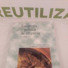 Libros de segunda mano: ESTRATEGIA Y POLITICA DE EMPRESA.LECTURAS.PIRAMIDE.. Lote 194373071