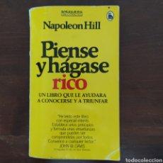 Libros de segunda mano: PIENSE Y HÁGASE RICO NAPOLEÓN HILL BRUGUERA. Lote 194689097