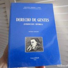 Libros de segunda mano: DERECHO DE GENTES. INTRODUCCIÓN HISTÓRICA. ALEJANDRO HERRERO Y RUBIO 1995. Lote 194704825