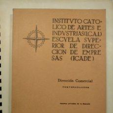 Libros de segunda mano: ICAI ICADE DIRECCIÓN COMERCIAL (POSGRADUADOS) - 1965. Lote 194718987