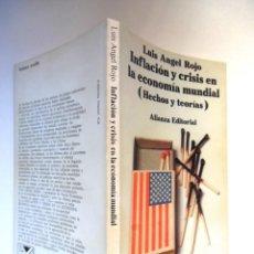 Libros de segunda mano: LUIS ANGEL ROJO, INFLACIÓN Y CRISIS EN LA ECONOMÍA MUNDIAL. HECHOS Y TEORÍAS. Lote 194739680