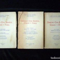 Libros de segunda mano: DERECHO CIVIL ESPAÑOL, COMÚN Y FORAL. 3 TOMOS. JOSÉ CASTAN TOBEÑAS. UNDÉCIMA EDICIÓN, 1971-75. Lote 194747892