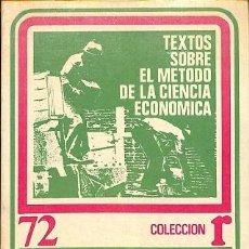 Libros de segunda mano: TEXTOS SOBRE EL METODO DE LA CIENCIA ECONOMICA - FEDERICO ENGELS CARLOS MARX - EDITORES VARIOS. Lote 194857798