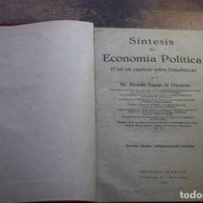 Libros de segunda mano: SINTESIS DE ECONOMIA POLITICA, RICARDO ESPEJO DE HINOJOSA, CLARASO, 1942. Lote 194920547