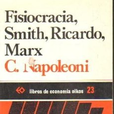 Libros de segunda mano: FISIOBRACIA, SMITH, RICARDO, MARX. NAPOLEONI, C. A-ECON-194. Lote 194936138