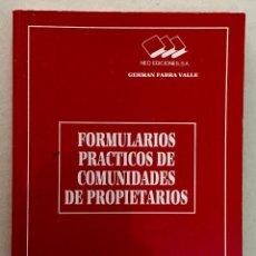 Libros de segunda mano: FORMULARIOS PRACTICOS DE COMUNIDADES DE PROPIETARIOS.. Lote 194996476