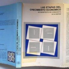 Libros de segunda mano: LAS ETAPAS DEL CRECIMIENTO ECONÓMICO. UN MANIFIESTO NO COMUNISTA, POR W.W. ROSTOW. Lote 195051603