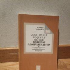 Libros de segunda mano: DERECHO ADMINISTRATIVO CIVITAS JOSÉ MARÍA BOQUERA OLIVER. Lote 195243940
