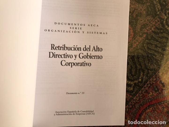 RETRIBUCIÓN DEL ALTO DIRECTIVO Y GOBIERNO CORPORATIVO. (Libros de Segunda Mano - Ciencias, Manuales y Oficios - Derecho, Economía y Comercio)