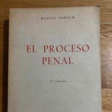 Libros de segunda mano: EL PROCESO PENAL MIGUEL FENECH. Lote 195341672