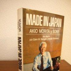 Libros de segunda mano: MADE IN JAPAN. AKIO MORITA Y SONY (VERSAL, 1987) TAPA DURA. EXCELENTE ESTADO. Lote 195364687
