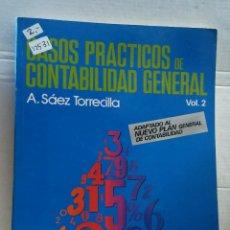 Libros de segunda mano: 12530 - CASOS PRACTICOS DE CONTABILIDAD GENERAL - VOL 1 - POR A. SAEZ TORRECILLA - AÑO 1990. Lote 195368270