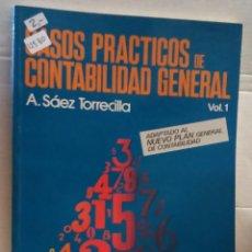 Libros de segunda mano: 12531 - CASOS PRACTICOS DE CONTABILIDAD GENERAL - VOL 2 - POR A. SAEZ TORRECILLA - AÑO 1990. Lote 195368321
