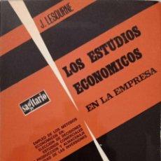 Libros de segunda mano: LOS ESTUDIOS ECONÓMICOS EN LA EMPRESA. Lote 195368467
