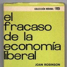 Libros de segunda mano: EL FRACASO DE LA ECONOMÍA LIBERAL. JOAN ROBINSON. SIGLO XXI. Lote 195402798
