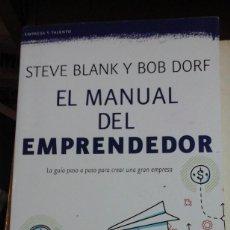 Libros de segunda mano: EL MANUAL DEL EMPRENDEDOR (VRCELONA, 2015). Lote 195420128