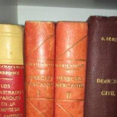 Libros de segunda mano: CURSO DE DERECHO MERCANTIL COMPARADO.TOMOS I Y II. AGUSTIN VICENTE Y GELLA. 1948. Lote 195481113