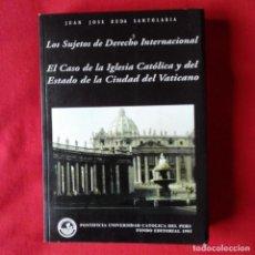 Libros de segunda mano: EL CASO DE LA IGLESIA CATOLICA Y DEL ESTADO DE LA CIUDAD DEL VATICANO. JUAN JOSE RUDA SANTOLARIA. Lote 195569823